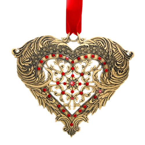 Seasons of Love Bronze Heart Ornament, wedding, wedding gift, swarovski, first wedding ornament