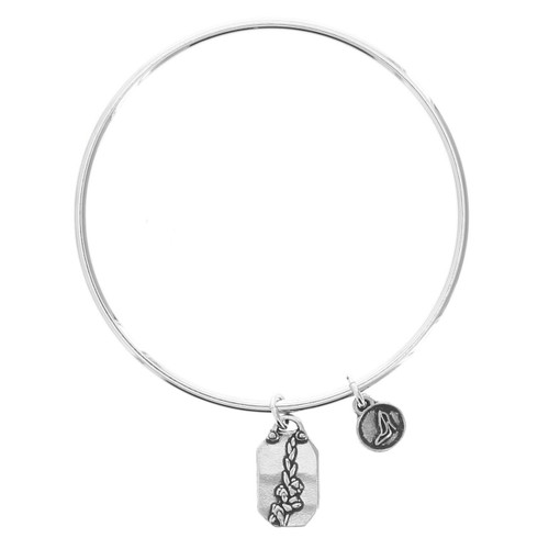 Gladiola Strength Bangle Bracelet