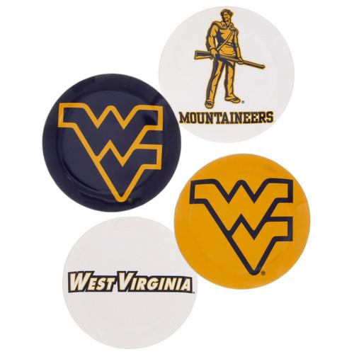 West Virginia University Coaster Set of 4