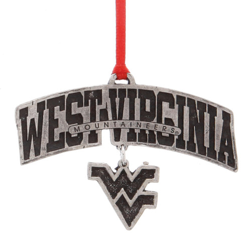 West Virginia Logo Dangling Ornament