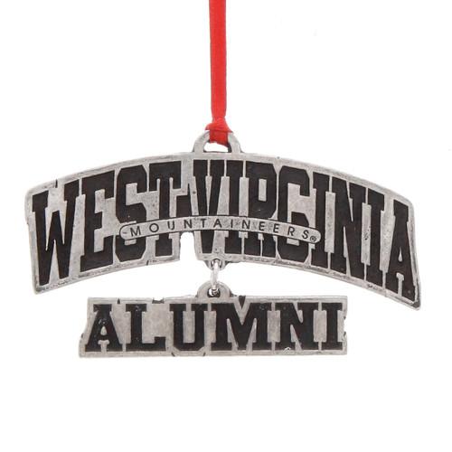West Virginia Alumni Dangling Ornament