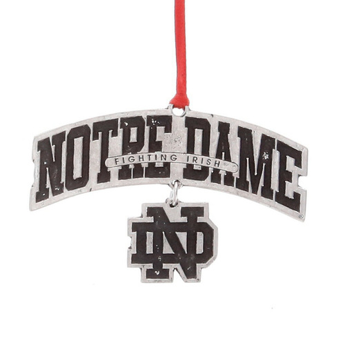 Notre Dame Logo Dangling Ornament