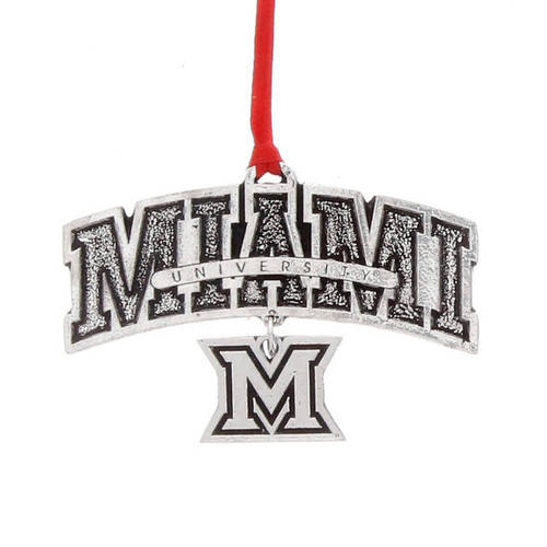 Miami University Dangle Ornament
