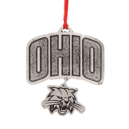 Ohio University Bobcat Dangling Ornament