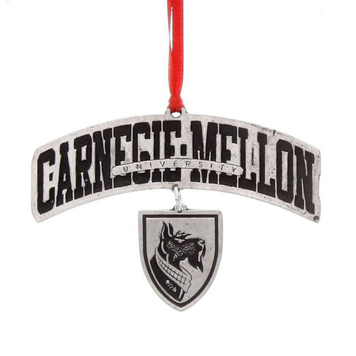 Carnegie Mellon Logo Dangling Ornament