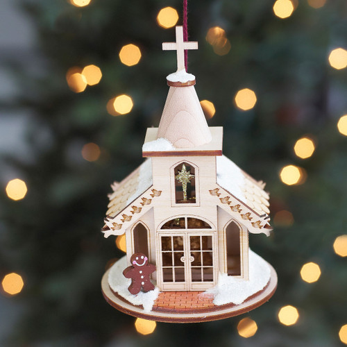 Nativity Chapel Ginger Cottage Ornament