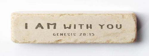 I am With You Scripture Stone