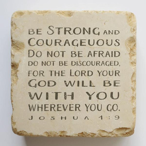 Be Strong and Courageous Small Scripture Stone