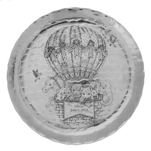 Baby Zoo Balloon Plate- Aluminum