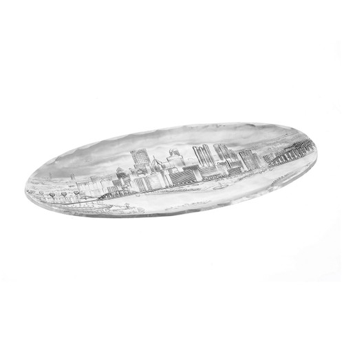 Small Pittsburgh Murano Tray, serveware, entertaining, cheese tray, cookie tray, wedding gift, gifts