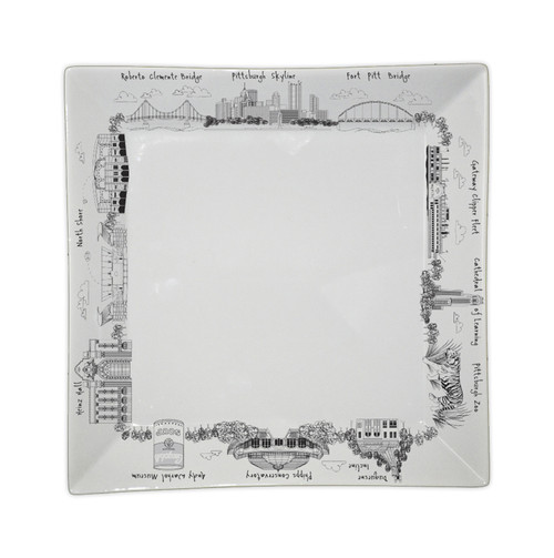 Pittsburgh Large Square Platter