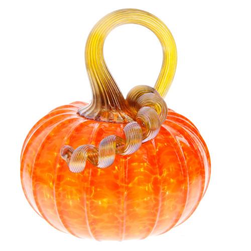 Vessel Glass Handblown Pumpkin- Bright Orange Wendell August