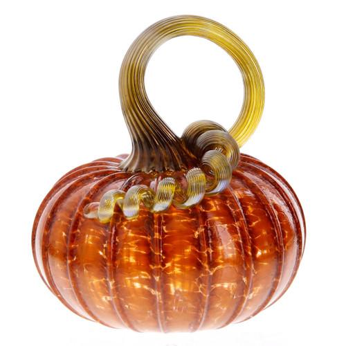 Vessel Glass Handblown Pumpkin- Classic Orange Wendell August
