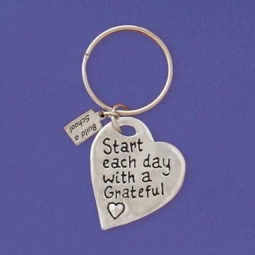 Grateful Heart Keychain Wendell August