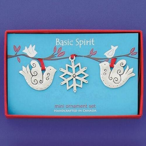 Doves Miniature Orn Set Wendell August