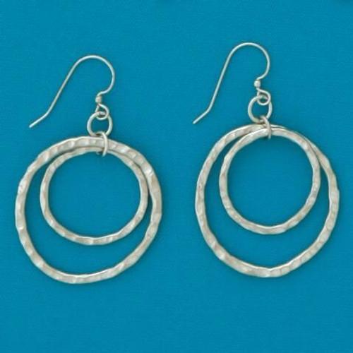 Large Double Loop Earrings Wendell August