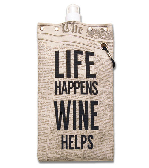 Life Happens Wine Helps Beverage Bag