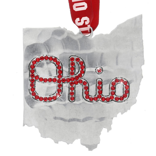 Limited Edition Ohio State University Ornament with Crystals Wendell August