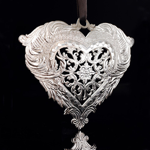 Limited Edition Silver-Plated Seasons of Love Ornament Wendell August