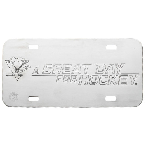 A Great Day for Hockey Pittsburgh Penguins License Plate Wendell August