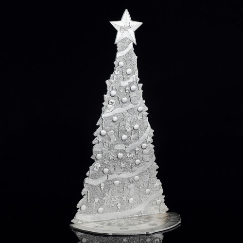 Limited Edition Magic Christmas Village Tree in Silver Wendell August