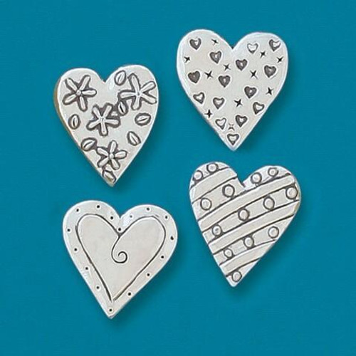 4 Hearts Magnet Set Wendell August