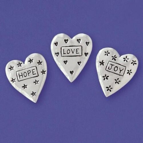 Love, Hope, Joy Hearts 3-Piece Magnet Set Wendell August
