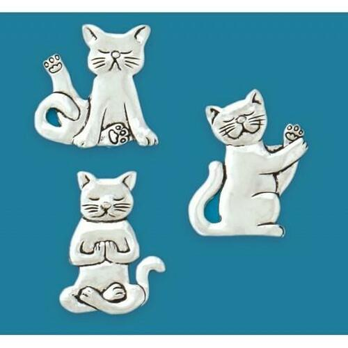 Yoga Cats 3-Piece Magnet Set Wendell August