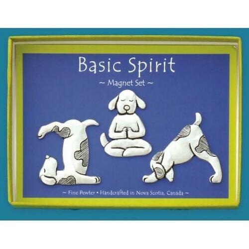 Yoga Dogs 3-Piece Magnet Set Wendell August