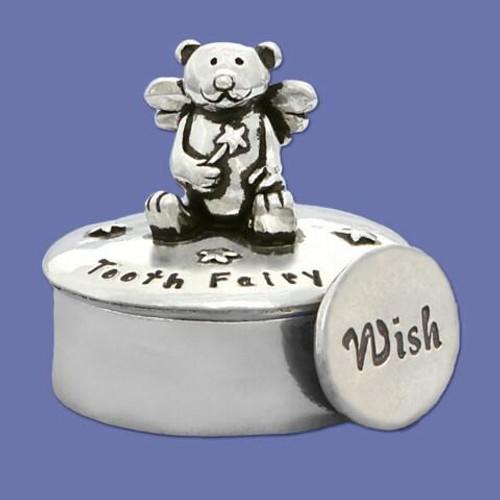 Tooth Fairy Teddy Bear Box with Coin Wendell August