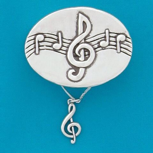 Treble Clef Wish Box with Treble Clef Necklace Wendell August