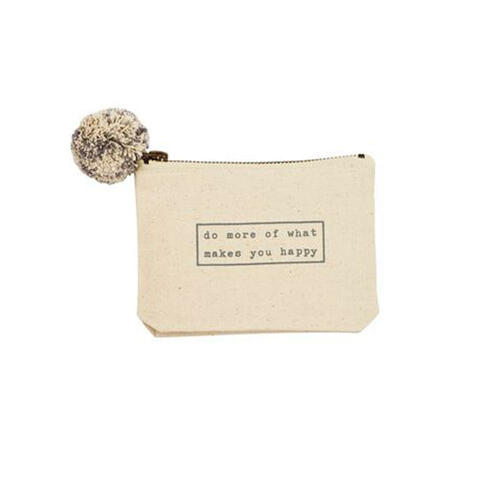 Do More Happy Phrase Pouch Wendell August