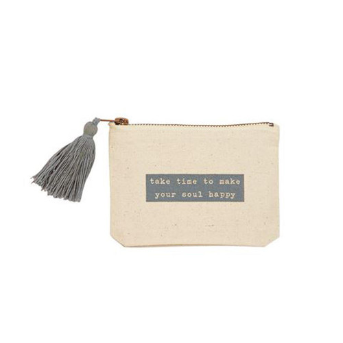Take Time Happy Phrase Pouch Wendell August