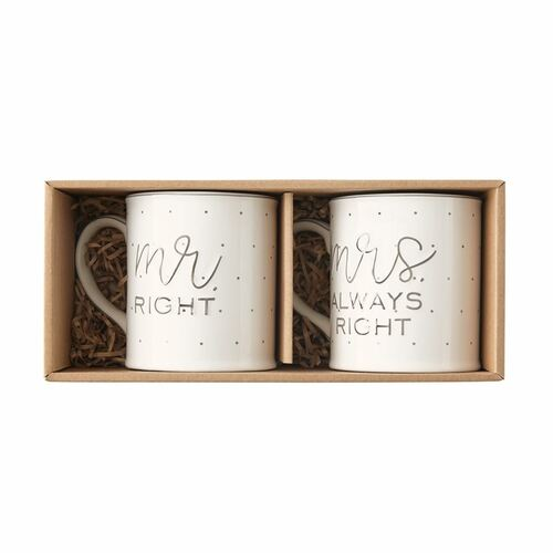 Mr. & Mrs. Boxed Mug Set