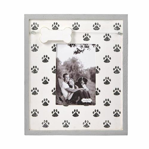 Paw Print Dog Bone Charm Frame Wendell August