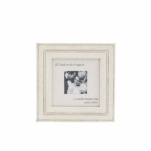 Choose You Wood and Linen Wedding Frame Wendell August