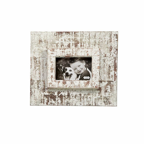 Small White Washed Layered Frame Wendell August