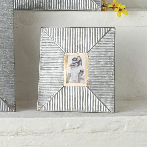 Small Ribbed Tin Frame Wendell August