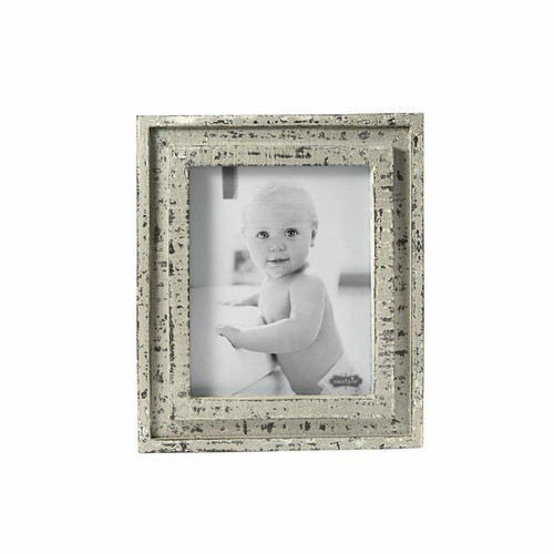Distressed White Wood Large Frame Wendell August