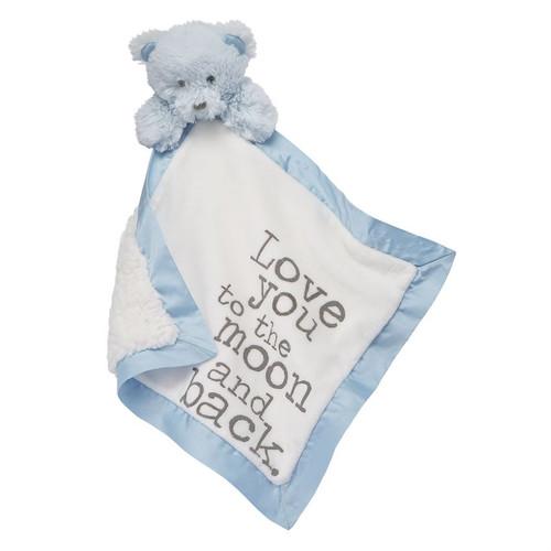 Bear Boy Velour Woobie Baby Blanket