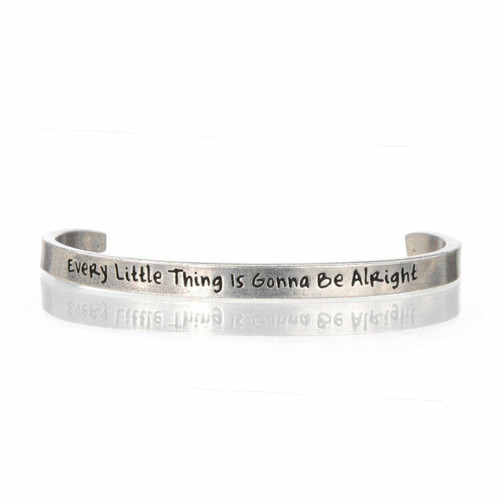 Every Little Thing Is Gonna Be Alright Cuff Bracelet Wendell August
