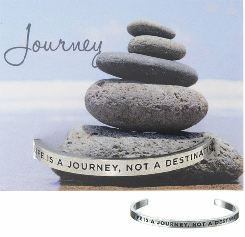 Life is a Journey Cuff Bracelet Wendell August