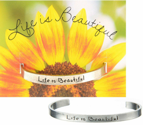Life is Beautiful Cuff Bracelet Wendell August