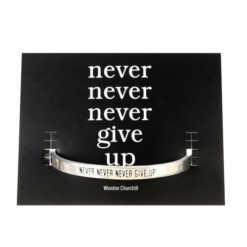 Never Give Up Cuff Bracelet Wendell August
