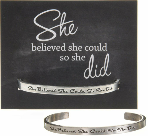 She Believed She Could Cuff Bracelet Wendell August