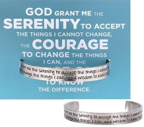 Serenity Prayer Cuff Bracelet Wendell August