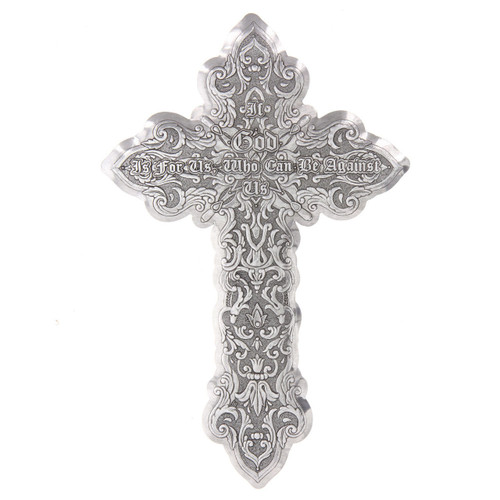 If God Is For Us Messiah Wall Cross Aluminum Wendell August