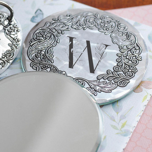 Inscriptions Oval Hand Mirror Aluminum Wendell August