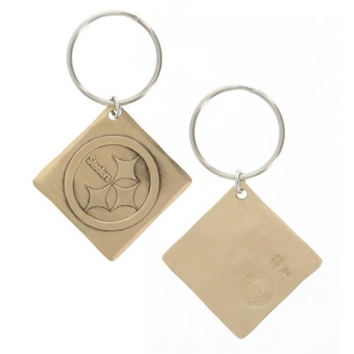 Pittsburgh Steelers Logo Key Chain Bronze Wendell August