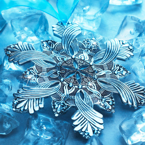 Snow Crystal Happiness Ornament Aluminum Wendell August